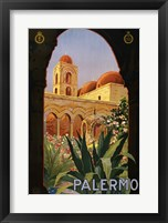 Framed Palermo, travel poster 1920