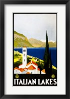 Framed Italian Lakes, travel poster, 1930