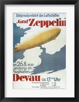 Framed Zeppelin in Devau 1939