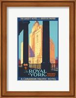 Framed Royal York Poster
