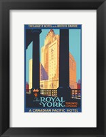 Framed Royal York Poster