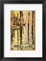 Framed Venise et le Lido travel poster 1920