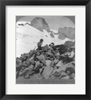 Washington - Mount Rainier Toiling up a snowfield Framed Print