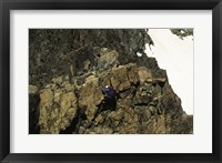 Framed High angle view of a person mountain climbing, Ansel Adams Wilderness, California, USA
