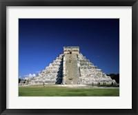 Framed Pyramid, El Castillo, Chichen Itza Mayan, Yucatan, Mexico