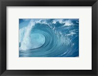Framed Close-up of waves in the sea in turquoise