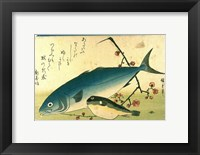 Framed Hiroshige A Shoal of Fishes Fugu Yellowtail