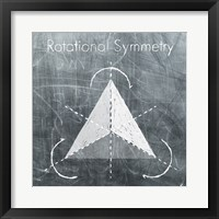 Rotational Symmetry Framed Print