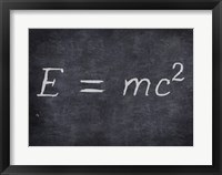 E=MC2 Framed Print