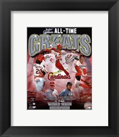 Framed St. Louis Cardinals All Time Greats Composite