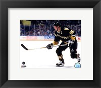 Framed Mario Lemieux 1990 Action