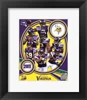 Framed Minnesota Vikings 2011 Team Composite