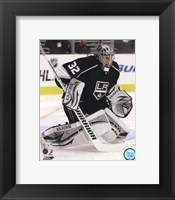 Framed Jonathan Quick 2011-12 Action