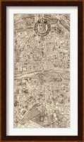 Framed Plan de la Ville de Paris, 1715 (M)