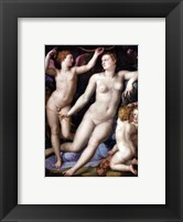 Framed Angelo Bronzino - Venus, Cupid and Envy