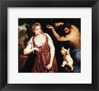 Framed Venus, Mars and Cupid