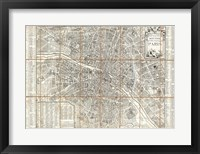 Framed 1780 Esnauts and Rapilly Case Map of Paris