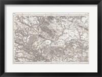 Framed 1852 Depot de Guerre Map of Paris and its Environs, France