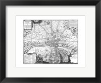 Framed Plan de Paris - gray