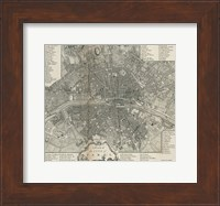 Framed Plan Paris Stockdale