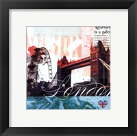 Framed London Stamps - Mini