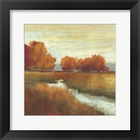 Orange Treescape Framed Print