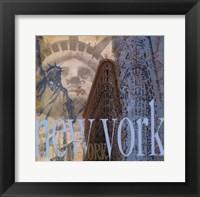 New York -Mini Framed Print