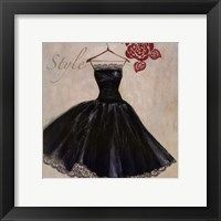Style - mini - Black Dress Framed Print