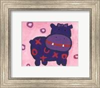 Framed Hippo - mini