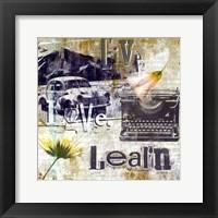 Live Love Learn - mini Framed Print