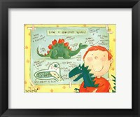 How a Dinosaur Works Framed Print