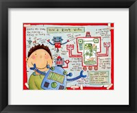 How a Robot Works Framed Print