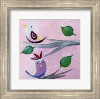 Framed Bird Dots II - mini