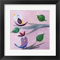 Bird Dots II - mini Framed Print