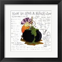 How to Spot a Witch Framed Print
