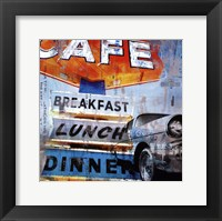 Framed Breakfast Cafe - mini
