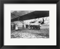 Framed Zeppelin Landing in Presence of Count Zeppelin and Crown Prince