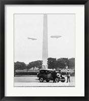 Framed U.S. Army Blimps, Passing over the Washington Monument