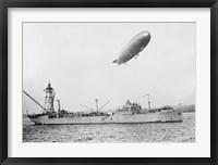 Framed U.S.S. Patoka and Shenandoah Blimp Overhead