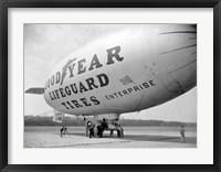 Framed Goodyear Blimp at Washington Air Post, 1938
