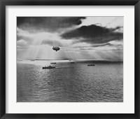 Framed U.S. Navy Blimp
