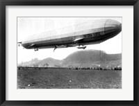 Framed Zeppelin Airship LZ 11 Viktoria Luise on May 5, 1912 in Marburg