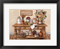 Framed Antique Jugs