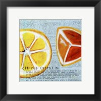 Framed Citrus text - mini