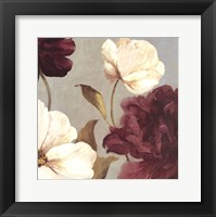 Framed Deep Peonies II - mini