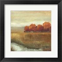 Framed Orange Treescape II - mini