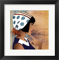 Head Scarf - mini Framed Print