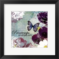 Framed Papillon - mini
