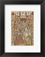 Framed Nativity Scene with Depiction of Trinity