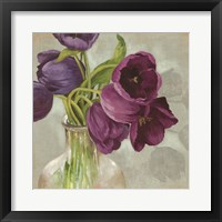Framed Glass Flowers I